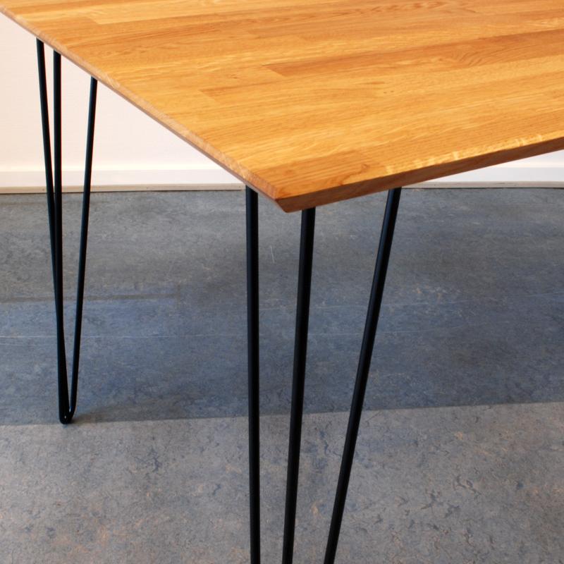3-delt bordben 711mm, sort