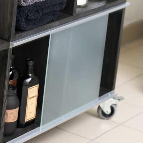 Sensationelle Glas og alu-skinner til dine reoler   Enkelt design DH29